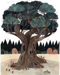 Wildwood illustrated by Carson Ellis @carsonellis #illustration #childrensbook #childrensillustration #kidlitart #kidsillustration #carsonellis #colinmeloy #wildwood #forest #instaart #instaartist