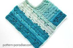 Dragonfly Poncho -free crochet pattern-