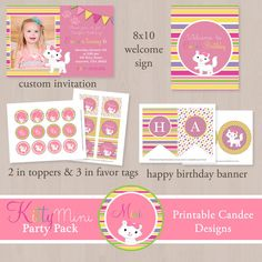 Hey, I found this really awesome Etsy listing at https://www.etsy.com/listing/126522941/kitty-cat-mini-birthday-party-pack-diy
