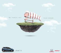 生きた羊を輪切りにした、Hondaの「分割払い」のプリント広告とは? | AdGang We parcel out your dream. (あなたの夢、分割します。) コピーにある「dream」の象徴として羊をえらび、分割払いということでそれをストレートに分割した(輪切りにした)クリエイティブです。  クルマという「夢」の分割払いを、非常にシンプルにかつユーモラスに描いています。コピーからビジュアルへの広げ方が非常に参考になるプリント広告でした。