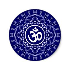 Shop Om Design Classic Round Sticker created by Personalize it with photos & text or purchase as is! Mantra, Hindu Symbols, Peace Symbols, Namaste Tattoo, Om Tattoo Design, Om Art, Lord Shiva Family, Shiva Wallpaper, Om Symbol