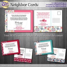Thirty One Gifts Consultant postcard - NEIGHBOR CARDS for potential customers - DIY, digital file
