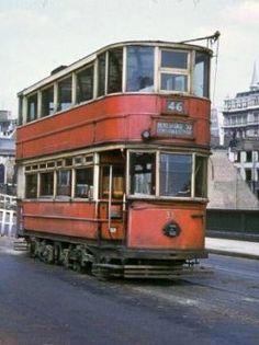 Southwark Bridge with tram, London Pride, London Bus, Vintage London, Old London, South London, London Transport, Public Transport, London Photos, London Pictures