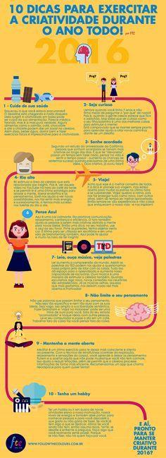 Confira 10 dicas para manter a criatividade em alta, ter mais disposição no dia a dia e dar um impulso no cérebro!