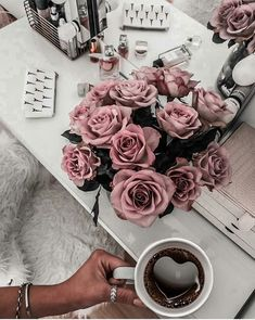 Image discovered by vera montana. Find images and videos about pink, beauty and flowers on We Heart It - the app to get lost in what you love. Coffee Photography, Pink Aesthetic, Aesthetic Wallpapers, Girly Things, Flower Power, Coffee Shop, Flower Arrangements, Iphone Wallpaper, Beautiful Flowers