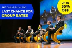 Last Chance for Skift Global Forum Group Rates  Skift Take: Skift Global Forum is rapidly approaching and you don't want to attend alone. Grab your colleagues and save when you register as a group before it's too late!   Rafat Ali  Our flagship event Skift Global Forum is less than four weeks away. Thats right! In just one short month on September 26-27 the leading innovators in travel will descend uponJazz at Lincoln Centers Frederick P. Rose Hall Time Warner Center NY for two days of…
