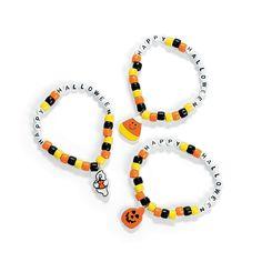 Halloween Pony Bead Bracelet Craft Kit - OrientalTrading.com