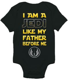 Start training your future generation Star Wars fan early with a nod to the power of the force with one of our most popular baby bodysuits. Available in a variety of colors, with vibrant graphics, thi