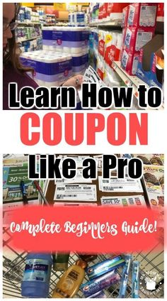 Learn How To Coupon Like A Pro Complete Beginners Guide. We have easy tips that will help you learn how to coupon like a pro all on your own. Extreme Couponing Tips, How To Start Couponing, Couponing For Beginners, Couponing 101, Save Money On Groceries, Ways To Save Money, Money Saving Tips, Groceries Budget, Saving Ideas