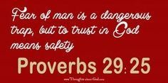 Devotional on Proverbs 29:25