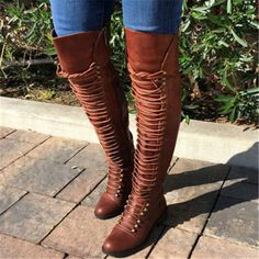 Thigh high boots riding boots winter boots women over kneel long boots 2017 women's fashion boots Low Heel Shoes, High Heel Boots, Heeled Boots, Bootie Boots, Shoe Boots, Low Heels, Flat Boots, Women's Boots, Sexy Heels