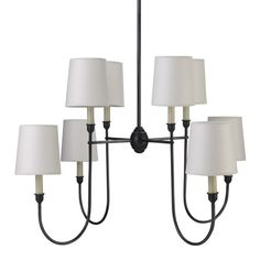 """Colette Chandelier designed by Thomas O'Brien - too big, 44"""" high, but the perfect look, need to find similar but scaled-down chandelier. 