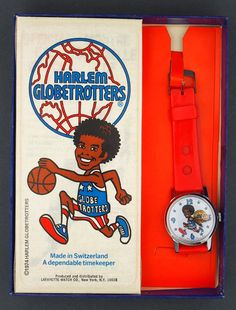 1974 The Harlem Globetrotters Character Watch in the Original Box by Lafayette #Lafayette #CartoonNovelty