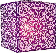 12 in Plum Purple Block Printed Square Paper Lanterns Purple Lantern, Chinese Paper Lanterns, Paper Umbrellas, Novelty Lighting, Candle Chandelier, Plum Purple, Deep Purple, Rice Paper, Modern Prints