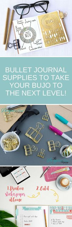 Bullet Journal Supplies - From the best journals and pens to stencils and washi tape this is the ultimate guide to the supplies you need for your bullet journal! #bulletjournal #bujo