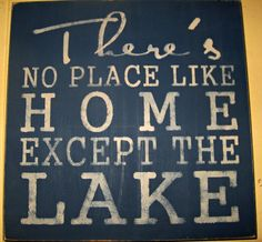 Subway Sign-No Place Like the Lake. Hand painted stenciled sign on pine board. Made to order. Lake House Signs, Lake Signs, Beach Signs, Lakeside Living, Lake Decor, Camping Signs, Lake Beach, Lake Cabins, Lake Cottage
