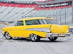 1957 Chevy Nomad - yellow car
