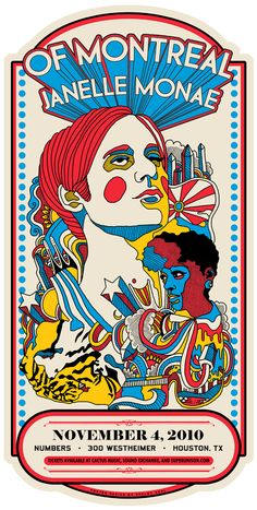 of montreal/janelle monae poster. I think this was my favorite of Montreal show!