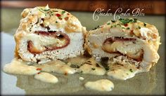 Chicken Cordon Bleu; I've fixed this dish quite a few times but never in the crockpot. Will try it this way next time!