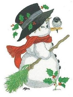 15 Snowmen Designs for Machine Embroidery