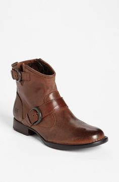 I love these. I could end up having like a dozen leather & buckley booties in varying shades of brown...   Børn 'Raisa' Bootie available at #Nordstrom