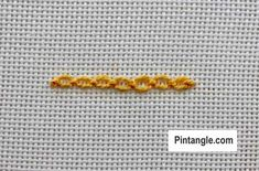 Step by step tutorial on Cable chain stitch 5