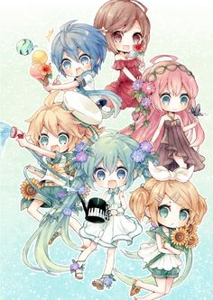 Let's spread Chibi to all over the world with us to get an anime stuff you want free. Hatsune Miku, Miku Chibi, Chibi Girl, Kawaii Anime, Loli Kawaii, Cute Anime Chibi, Kawaii Chibi, Otaku, Manga Anime