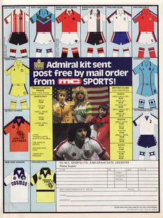 True Colours Football Kits » Vintage Kit Advertisements