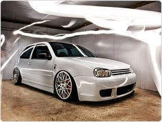 Beautiful VW Golf MK4 R32 on Rotiform BLQ