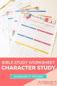 JW Personal Bible Study Sheets – Character Study | JW Printables