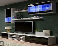 TV Wall Units TV Stand TV Cabinets - High Gloss Black / White Modern Furniture | eBay