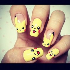 Cool Pokemon Nails Design, cool nail designs you can do yourself, glitter fade nail ~ Cool Nail Art Ideas