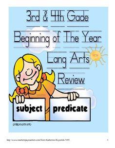 Language Arts Common Core 3rd-4th grade-Common Core Language Arts