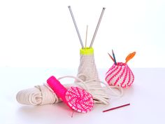 The Work is Getting to Me: Making Neon Rope Baskets