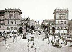 Hallesches Tor, Belle-Alliance-Platz und, im Hintergrund, die Friedrichstraße (Kreuzberg), 1894. Foto: Robert Prager.