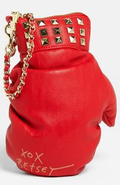 Betsey Johnson 'Boxing Glove' Wristlet | Nordstrom  This is seriously one of the cutest things ever. I love Betsey Johnson; she has always been one of my favorite designers!
