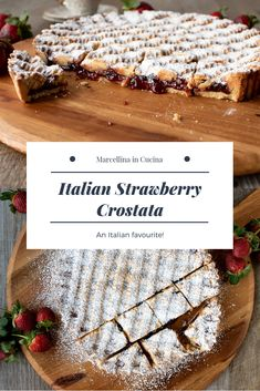 This Strawberry Crostata recipe Easy Strawberry Tart is an easy Italian pastry filled with fruity jam Italian Cake, Italian Cookies, Italian Desert, Italian Breakfast, Italian Pastries, Food Processor Recipes, Dessert Recipes, Pastries Recipes, Cookie Recipes
