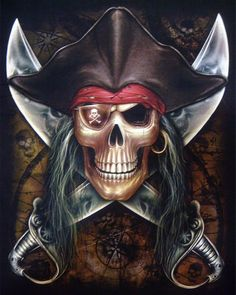 skull with sailor hat image Pirate Skull Tattoos, Pirate Tattoo, Pirate Art, Pirate Life, Pirate Woman, Graffiti Doodles, Skull Pictures, Pirate Halloween, Love Is Comic