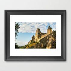 Carcassonne - France Framed Art Print by Rainer Steinke - $40.00