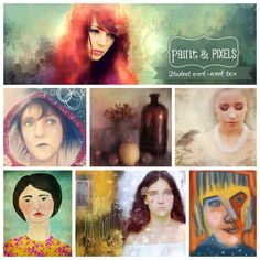 Paint & Pixels Student Work
