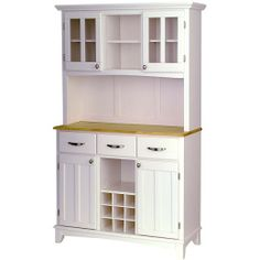 Home Styles White Hutch Buffet With Wood Top