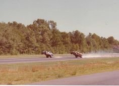 Double wheelstand at Connecticut Dragway.
