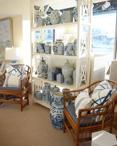 More blue and white in 2018!  Pictured: Baltimore shop