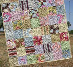 Gypsy Baby Quilt Girl Blanket Modern by SunnysideDesigns2 on Etsy, $129.00