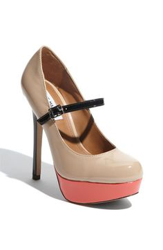 Steve Madden, So In Love These Shoes Right Now. Three Tone, Mary Jane, Platform, Round-Toed High Heel.