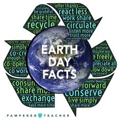 Earth Day Facts to reduce, reuse, recycle. Learn forest conservation and the tropical rainforest activities for school kids from Pampered Teacher!