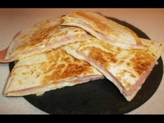 Quesadillas de jamón y queso #33 / Ham and cheese quesadilla - YouTube