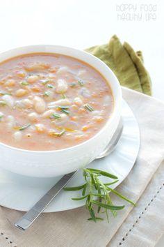 Vegan Bean and No Bacon Soup - Happy Food, Healthy Life