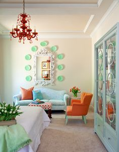 Turquoise And Coral Design, Pictures, Remodel, Decor and Ideas - page 6