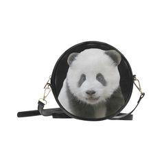 Panda Bear Round Messenger Bag. FREE Shipping. #artsadd #bags #pandas